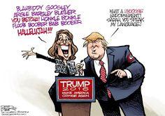 Palin Endorsement, Nate Beeler,The Columbus Dispatch,sarah palin, donald trump, endorsement, politics, 2016, candidate, president, presidential, election, republican, gop