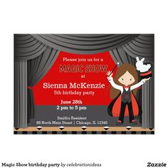 Sold. #MagicShow #birthday #kids #Invitation available in different products. Check more at www.zazzle.com/celebrationideas