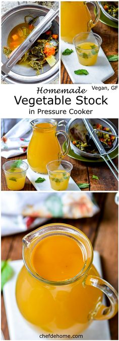 Homemade Vegan Vegetable Stock cooked in just 20 minutes in pressure cooker. Perfect to flavor soup and great health toniic with low sodium and almost negligible fat! Slow Cooker, Power Pressure Cooker, Instant Pot Pressure Cooker, Pressure Cooker Recipes, Pressure Cooking, Pressure Pot, Whole Food Recipes, Soup Recipes, Vegan Recipes