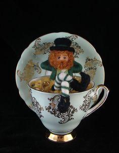 St Patrick's Day Pot of Gold Leprachaun Needle by McBrideHouse, $75.00