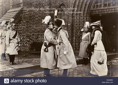 Download this stock image: Kaiser Wilhelm II at the celebrations for the marriage of his daughter Princess Viktoria Luise of Prussia to Ernst August of Hanover in Berlin, Germany - 24th May 1913. He gives his seal of approval to the new member of the family!     Date: 1913 - G3AW8X from Alamy's library of millions of high resolution stock photos, illustrations and vectors.