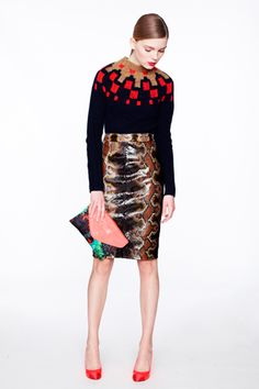 jcrew fall 2012 love the mixing with the snake