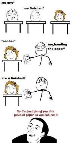 How To Troll The Teacher In Exam - Posted in Funny, Troll comics and LOL Images - Entertain Club