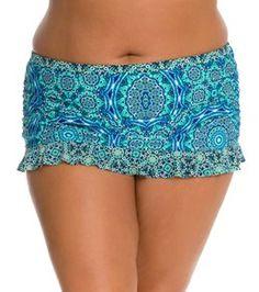 Jessica Simpson Plus Size Gypsy Life Ruffle Skirted Bottom
