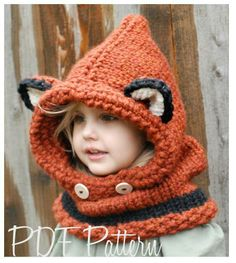 fox hood/cowl - this is so cute!