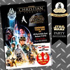 Star Wars Invitation - The Force Awakens Invitation - Rogue One Invitation - Star Wars Birthday Invitations - Star Wars Printable Invitation de LythiumArt en Etsy