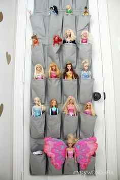toy storage ideas Over The Door Barbie Holder