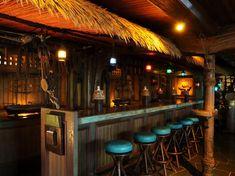 Hawaiian Restaurant, Restaurant Names, Rustic Restaurant, Restaurant Bar, Hurricane Bar, Surf, Tiki Bar Decor, Tiki Bar Stools, Cocktails Bar