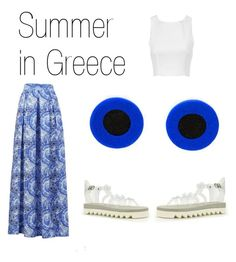 """Summer in Greece"" by sfkaterina on Polyvore featuring polyvoreeditorial, studearrings, LimeLightbykaterinasfinari, limelightjewelry and katerinasfinari"