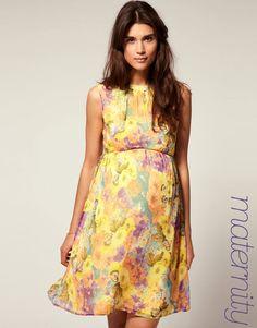 vestido maternal flores