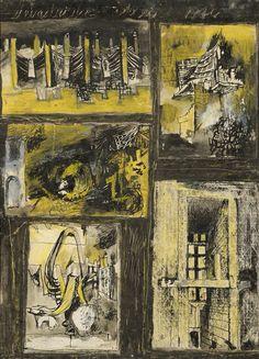 Graham Sutherland 24. August, English Artists, Mid Century Art, Modern Artists, Rembrandt, Famous Artists, Urban Art, Landscape Art, Picasso