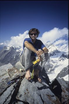 """Alex Lowe called, """"the world's best climber"""" by Outside Magazine. He died in October 1999 at the age of forty, buried by an avalanche in Tibet."""