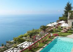 In the land of lemons, exists Palazzo Avino, a deluxe hotel residing in the Italian Amalfi coast. Built in what was once a century private villa for an Italian noble family, Palazzo Avino open… Amalfi Coast Hotels, 12th Century, Palazzo, Villa, Building, Outdoor Decor, Travel, Sicily, Viajes