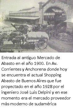 Entrada Antiguo Mercado del Abasto, c. 1900