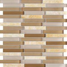 Zen HONEY CIDER Stone & Glass Mosaic Tiles For Kitchen Bathroom Backsplash, Shower Walls by Mnt Glass Tiles, http://www.amazon.com/dp/B002CJXXEM/ref=cm_sw_r_pi_dp_crThrb16RTPR3