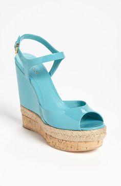 GUCCI Wedge Sandal - Lyst
