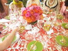 Beautiful luncheon tablescape