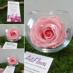 ❤ Messieurs, vous cherchez un cadeau romantique, un cadeau juste pour elle, pour Noël...❤ http://www.artifleurs-fleurs-artificielles.com/   VASE boule & ROSE éternelle stabilisée (couleur au choix)