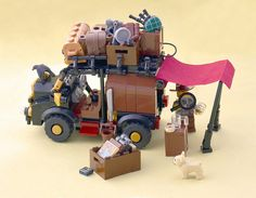 This little off-road vehicle is packed with enough equipment to make Johnny Thunder jealous. Lego Mecha, Lego Bionicle, Lego Cars, Lego Truck, Adventure 4x4, Lego Zombies, Lego Wheels, Lego System, Lego Construction