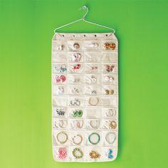 Canvas 80-Pocket Hanging Jewelry Organizer | SALE $17.99