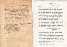 Gen. Israel Putnam to Gen. John Sullivan, August 7, 1777. Original letter plus transcript.