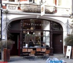 The Providores, cute cafe with good lunch food and tapas. Delicious cappuccinos. Marylebone.