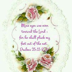 Psalms 25:15 (KJV)
