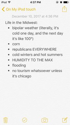 Or St. Louis. This is very correct, as I experience all these. (It was 70 on Saturday, and in literally 3 hours it was 40, deer hunting weekend was weird. And 30 the next day)