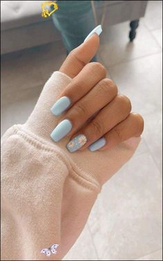 91 simple short acrylic summer nails designs for 2019 page 13 #colorful #photoof... - Dress #happytiere #beautifultiere #beautifulanimals #funnyanimals<br> Summer Acrylic Nails, Best Acrylic Nails, Acrylic Nail Designs, Summer Nails, Beach Nail Designs, Pastel Nails, French Nails, Aycrlic Nails, Coffin Nails