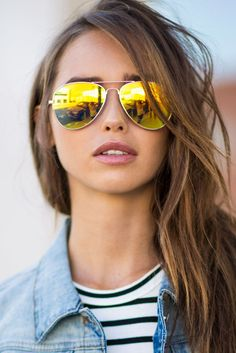 Give a little sunshine to your day with the Ray-Ban RB3025 Aviator Sunglasses…