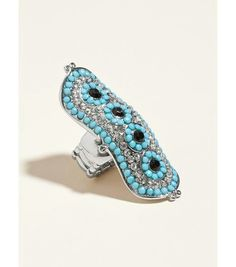 Turquoise north south ring