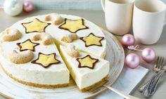 Winterliche Philadelphia®-Torte Rezept: Eine sahnige Frischkäsetorte ohne Backen mitWintergrütze und Vanillekipferl - Eins von 7.000 leckeren, gelingsicheren Rezepten von Dr. Oetker!