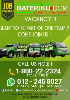 Want to be part of the best team ? come join us ! Call us for info