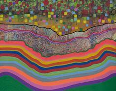 "Saatchi Online Artist Virginie Gallois; Painting, ""Paysage sédimentaire #2"" #art"