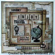 Scrap from Bemmel: Enjoy canvas using Tim Holtz, Ranger, Sizzix and Stamper's Anonymous products; Feb 2015
