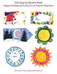 Phoebe Wahl Gift Tags - Holiday 2014