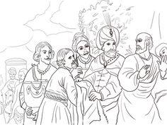 Elisha Refusing Gifts from Naaman Coloring page