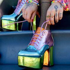 "5,498 Likes, 39 Comments - Dolls Kill (@dollskill) on Instagram: ""Do u wanna GET EM FIRST? Get on our PREOrDERList, get da PASTEL PlAYhAUS boots:…"""