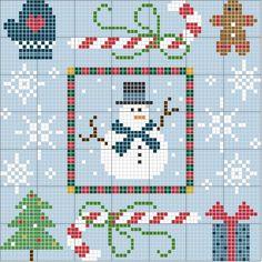 Schema punto croce Winter