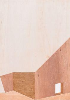 choi jae won landscape house 2016 x 48 cm plywood on woodpanel