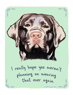 Chocolate+Lab+8x10+Print+of+Original+Painting+by+tinyconfessions,+$20.00