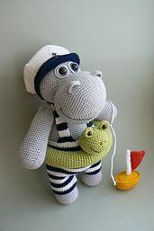 Ravelry: Hippo who loves to swim pattern by Katka Reznickova paid pattern--oh so cute