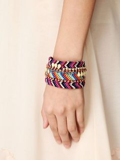 Free People Embellished Friendship Cuff, $38.00