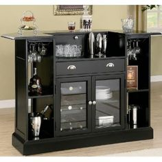 IKEA Home Bar Cabinet - Here is an idea for furniture design for your home and Office. IKEA Home Bar Cabinet Home Bar Furniture, Coaster Furniture, Furniture Ideas, Black Furniture, Furniture Storage, Fine Furniture, Entryway Furniture, Furniture Showroom, Furniture Outlet