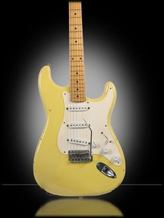 1955 Fender Stratocaster - Yellow #fenderguitars