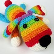 Rainbow Puppy - via @Craftsy