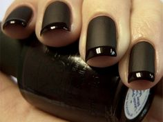 #nail #art #beauty #black #shine #mat