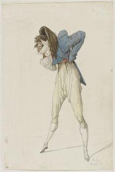 Caricature d'un incroyable Vernet Antoine Charles Horace (1758-1836) Paris, musée du Louvre, D.A.G. CRÉDITPhoto (C) RMN-Grand Palais (musée du Louvre) / Thierry Le Mage