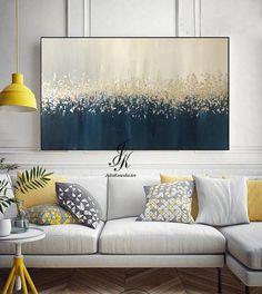 Abstract olieverf schilderij textuur schilderij goud schilderij bladgoud Dit is een originele professionele schilderij direct vanuit mijn favoriete studio. Handtekening voor- en achterkant. Uw schilderij wordt zeer vergelijkbaar in dezelfde stijl, kleur en grootte worden gemaakt.