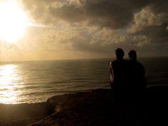 sunrise - me and my husband @ Chapadão, Praia do Amor, Pipa / RN - Brazil